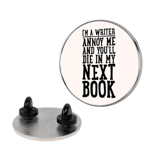 I'm A Writer pin