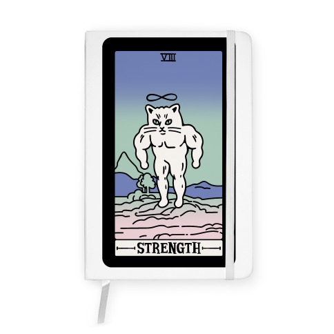 Strength Cat Meme Tarot Card Notebook
