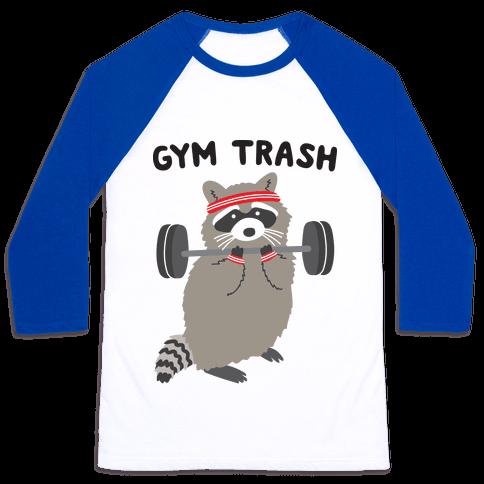Gym Trash Raccoon Baseball Tee