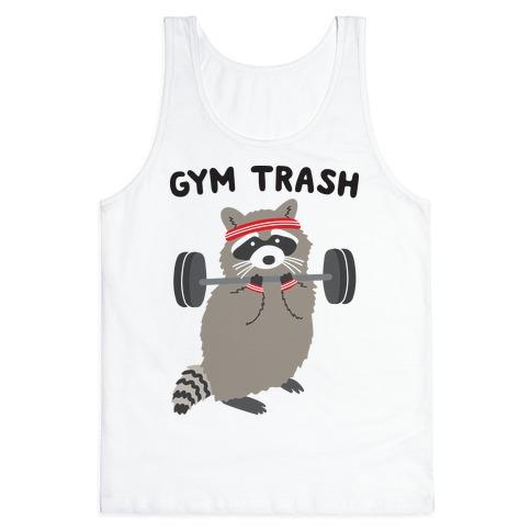 Gym Trash Raccoon Tank Top