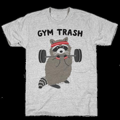 Gym Trash Raccoon Mens/Unisex T-Shirt