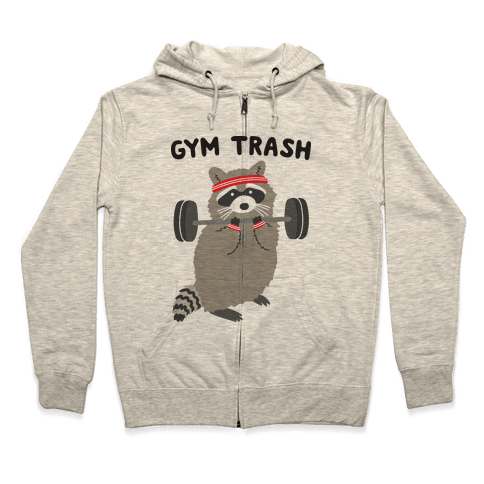 Gym Trash Raccoon Zip Hoodie