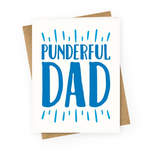 Punderful Dad Greeting Card