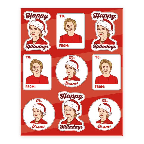 Happy Hilladays Sticker Sheet Sticker and Decal Sheet