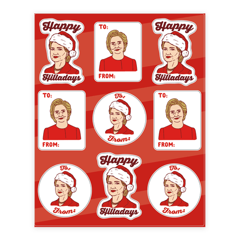 Happy Hilladays Sticker Sheet Sticker/Decal Sheet