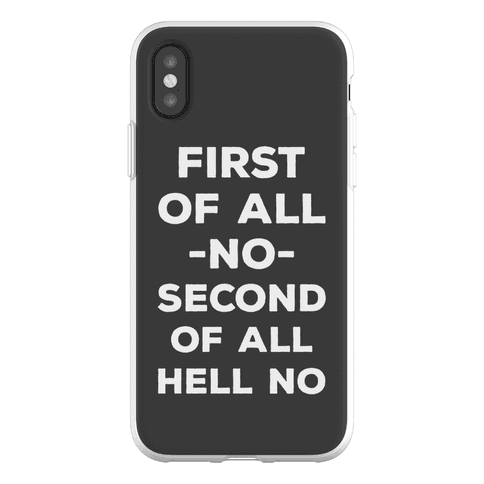 First of All No Phone Flexi-Case