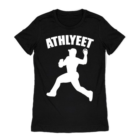 Athlyeet Baseball White Print Womens T-Shirt