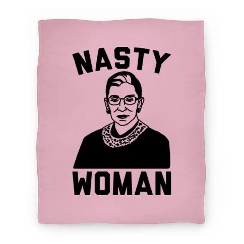 Nasty Woman RBG Blanket
