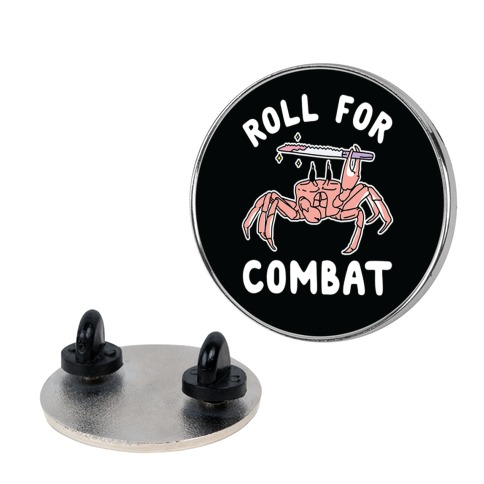 Roll For Combat Knife Crab Pin