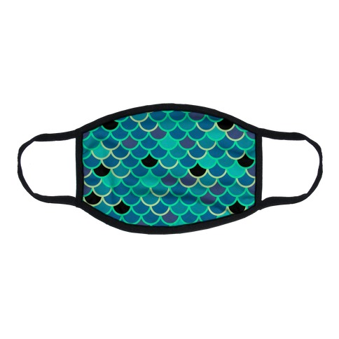Mermy Scales Flat Face Mask
