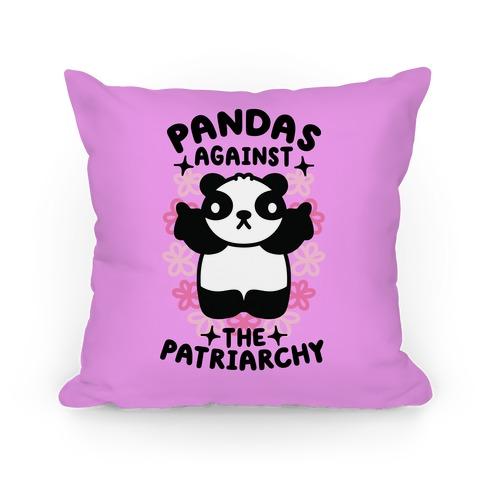 Pandas Against the Patriarchy Pillow