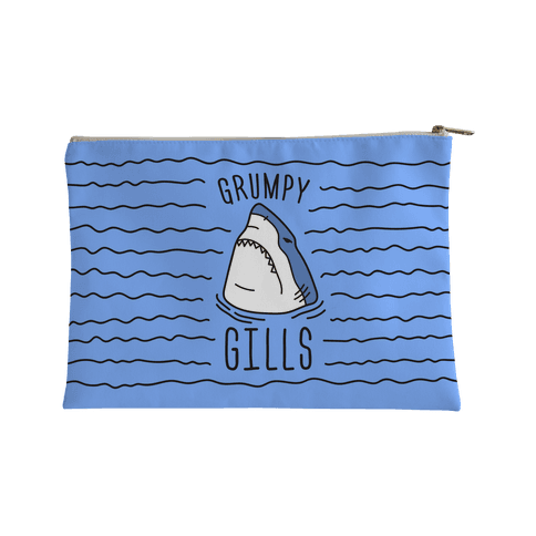 Grumpy Gills Shark Accessory Bag