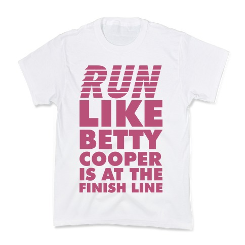 Run like Betty is at the Finish Line Kids T-Shirt