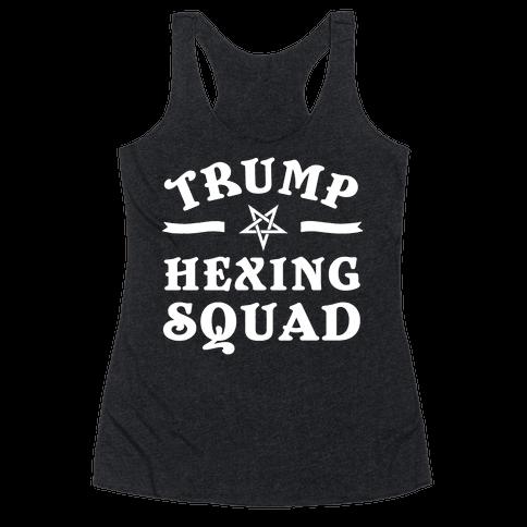 Trump Hexing Squad Racerback Tank Top