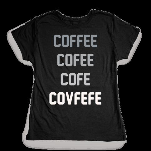 Woke Cofveve White Print Womens T-Shirt