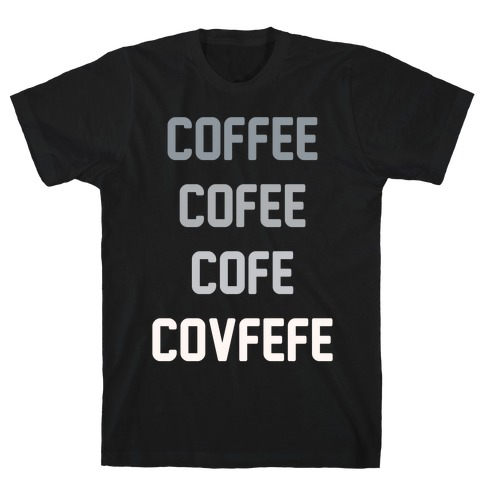 Woke Cofveve White Print Mens T-Shirt
