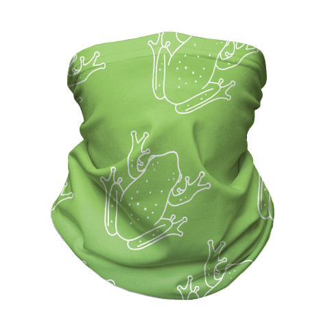 Froggy Green Gradient Neck Gaiter