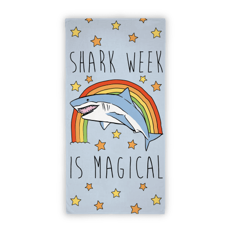 Shark Week Is Magical Beach Towel Beach Towel