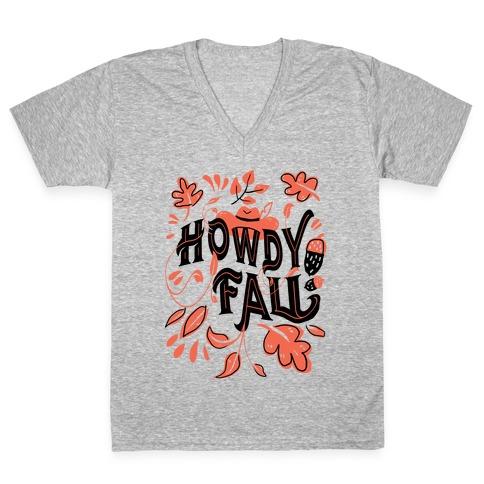 Howdy Fall V-Neck Tee Shirt