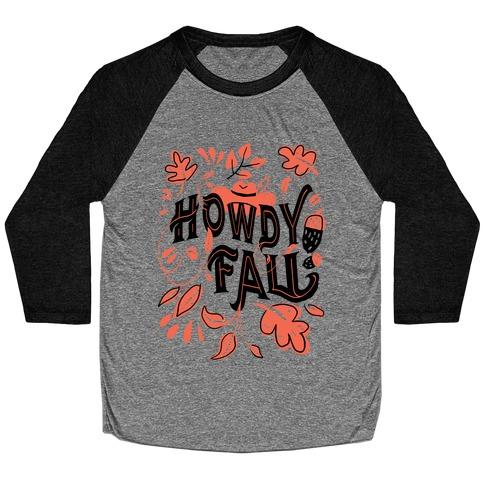 Howdy Fall Baseball Tee