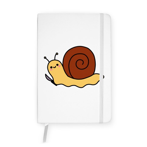 Snail With Knife Notebook