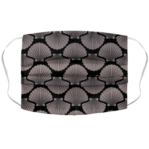 Seashell Pattern Accordion Face Mask