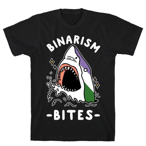 Binarism Bites Genderqueer T-Shirt