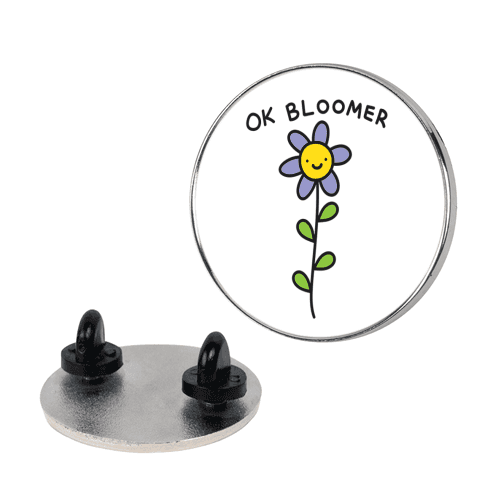 Ok Bloomer Flower Pin