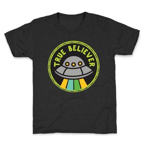 True Believer Culture Merit Badge Kids T-Shirt
