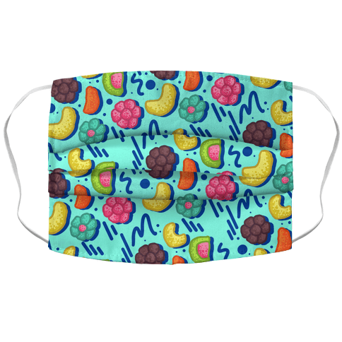 90's Cereal Pattern Accordion Face Mask
