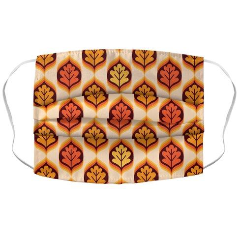 Vintage Autumn Leaves Pattern Accordion Face Mask