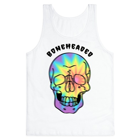 Boneheaded Trippy Skull Tank Top