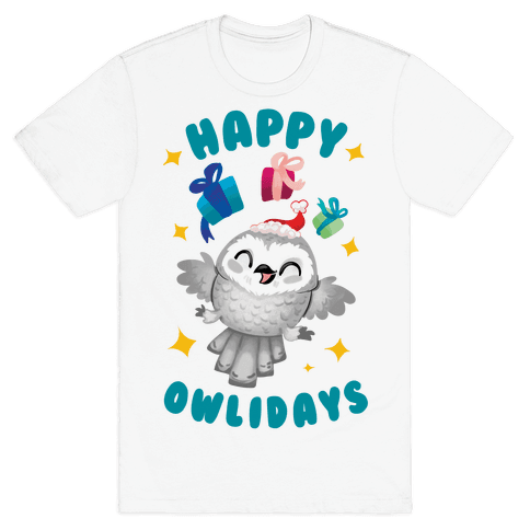 Happy Owlidays! Mens T-Shirt