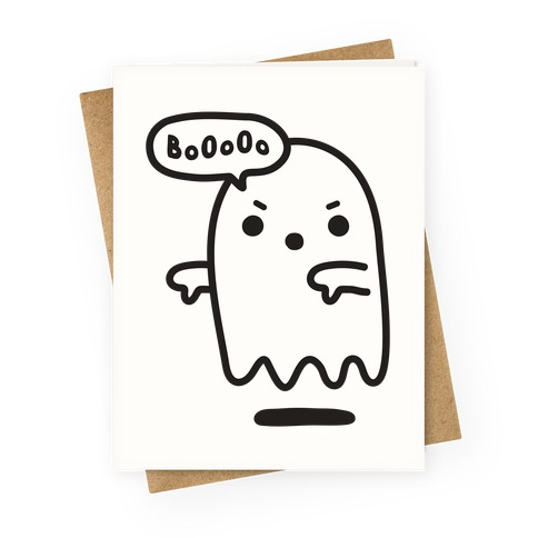 Disapproving Ghost Greeting Card