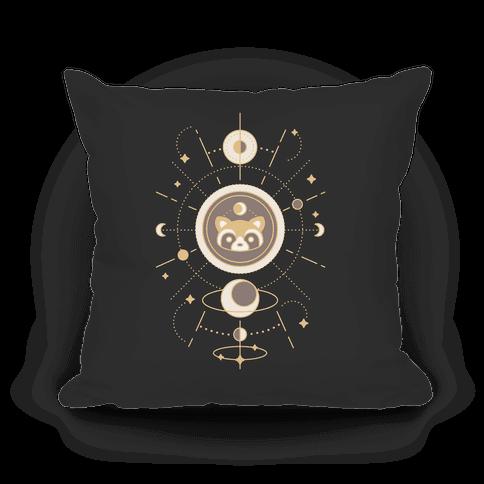 Raccoon Moon Pillow
