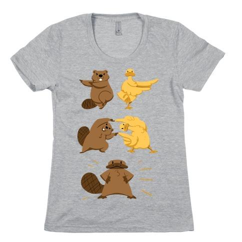 Platypus fusion dance Womens T-Shirt