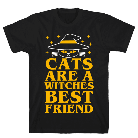 Cats are a Witches Best Friend Mens T-Shirt