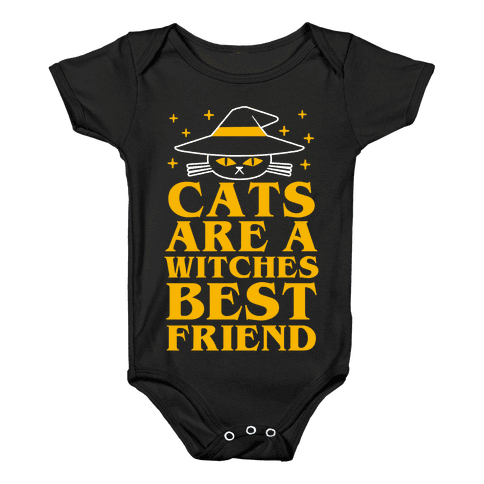 Cats are a Witches Best Friend Baby Onesy