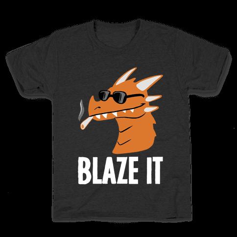 Blaze It Dragon Kids T-Shirt