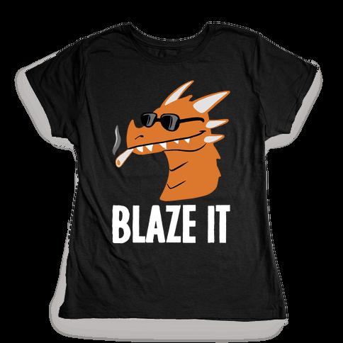 Blaze It Dragon Womens T-Shirt