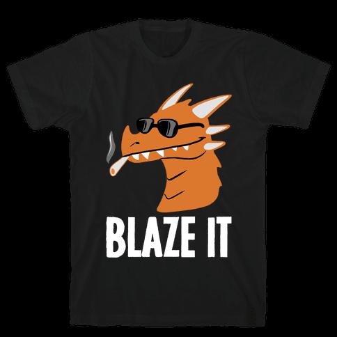 Blaze It Dragon Mens T-Shirt