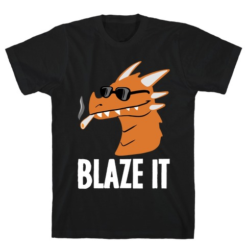 Blaze It Dragon Mens T-Shirt