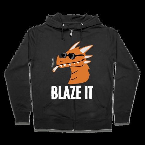 Blaze It Dragon Zip Hoodie