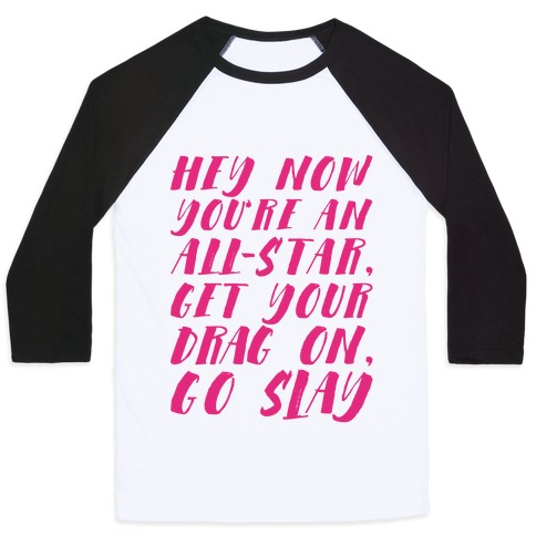 All Star Drag Queen Parody Baseball Tee