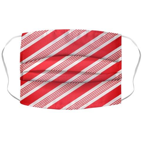 Candy Cane Stripe Pattern Accordion Face Mask