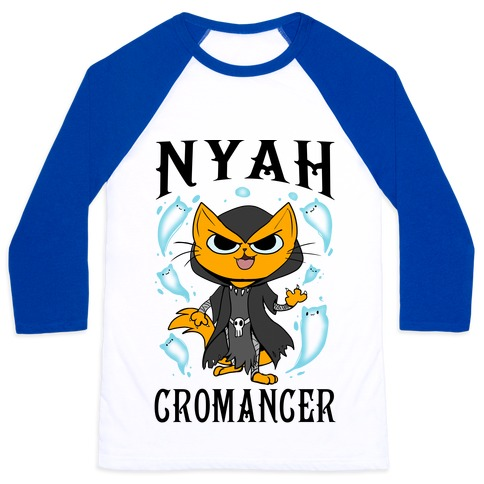 Nyahcromancer Baseball Tee