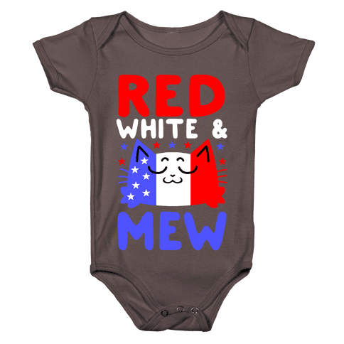 Red, White, And Mew Baby One-Piece