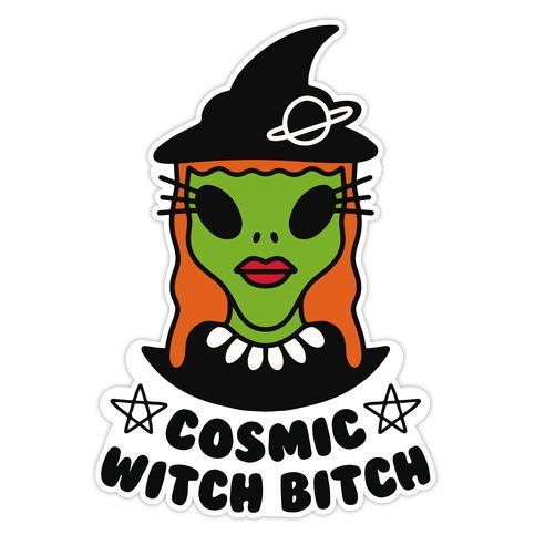 Cosmic Witch Bitch Die Cut Sticker