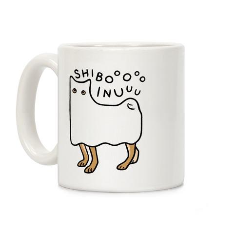 Shiba Inu Ghost Coffee Mug