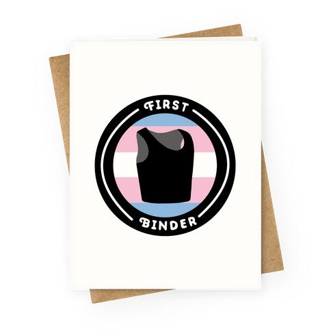 First Binder Patch (Transgender) Greeting Card